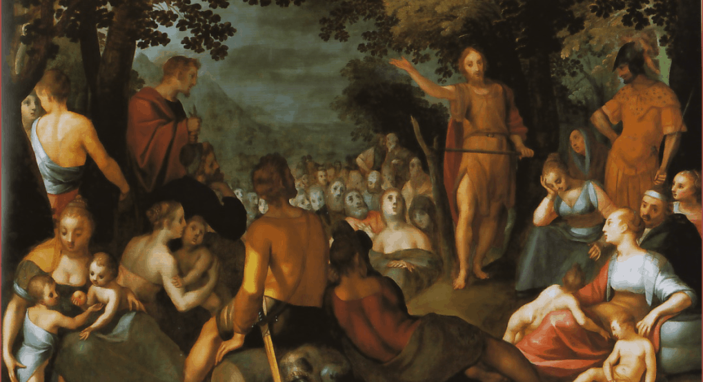 Адам ван Ноорт. Проповедь Иоанна Крестителя. 1601
