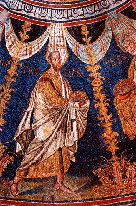 Апостол Павел. Мозаика. Италия, Равенна. VI в.