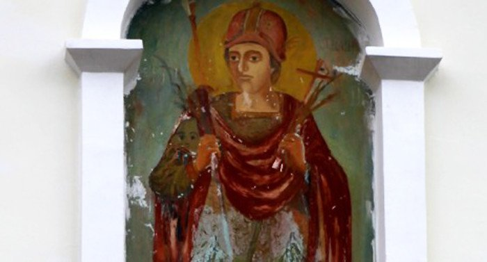 В обители близ Кишинева постоянно обновляется фреска святого Димитрия