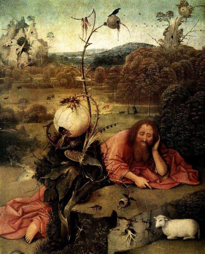 Иероним Босх. Cвятой Иоанн Креститель в размышлении. 1504-1505