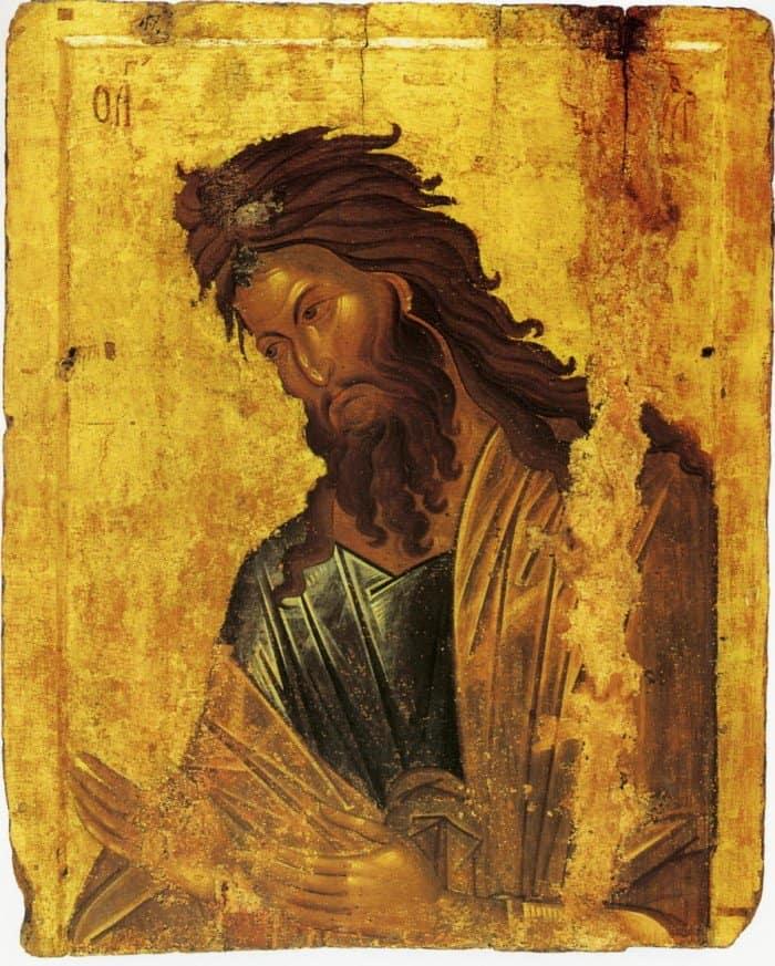 Иоанн Креститель. Византийская икона, XIV век