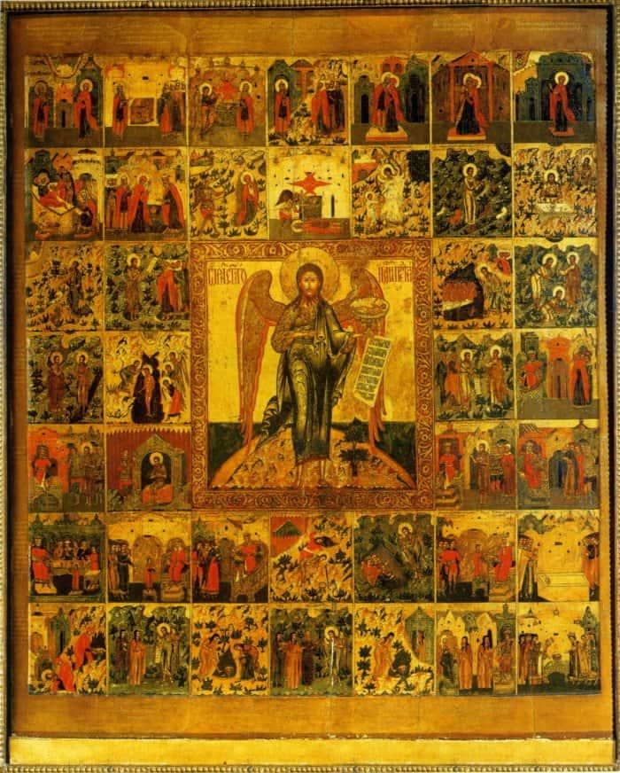 Иоанн Предтеча Ангел пустыни, с житием. XVII в. Церковь Воскресения на Дебре в Костроме