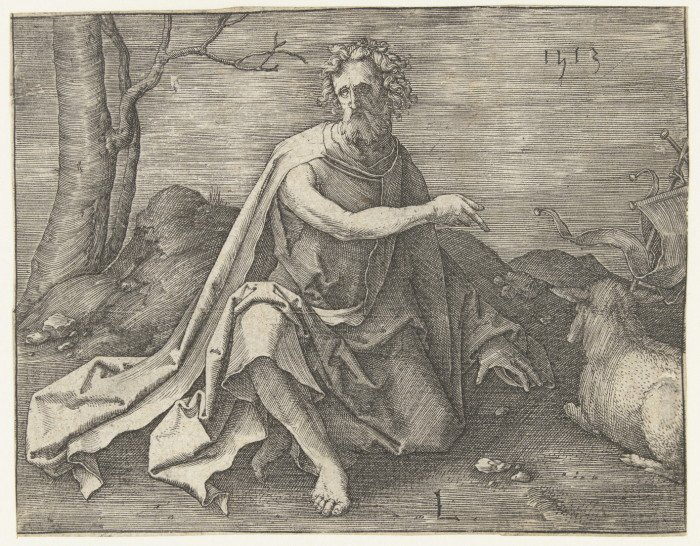 Лукас ван Лейден. Иоанн Креститель в пустыне. 1513