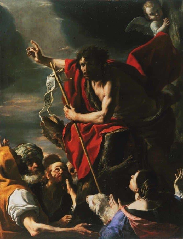 Маттиа Прети. Проповедь Иоанна Крестителя