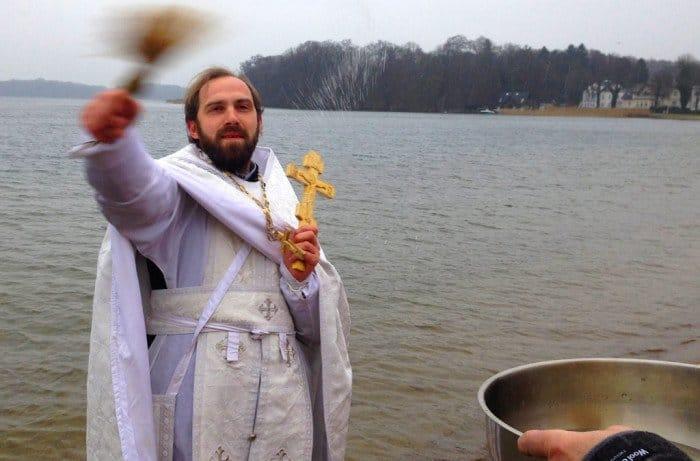 Крещенские купания. Шверин, Германия. Фото Екатерина Соловьева