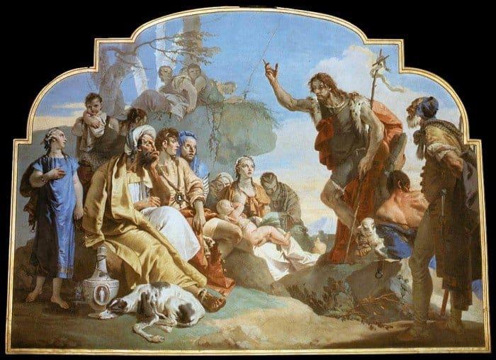 Тьеполо Джованни Баттиста. Проповедь Иоанна Крестителя