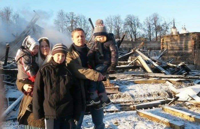 В новогоднюю ночь многодетная семья осталась без дома