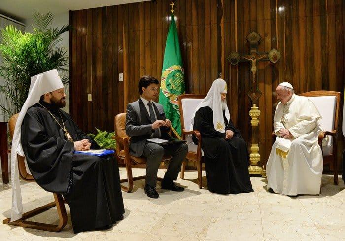 Встреча Патриарха Кирилла и Папы Франциска. Фото