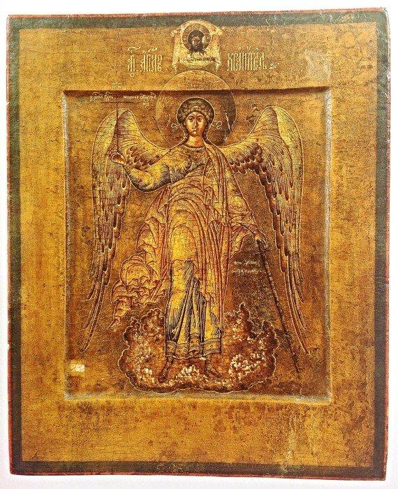 Икона Ангела работы старообрядческих иконописцев;