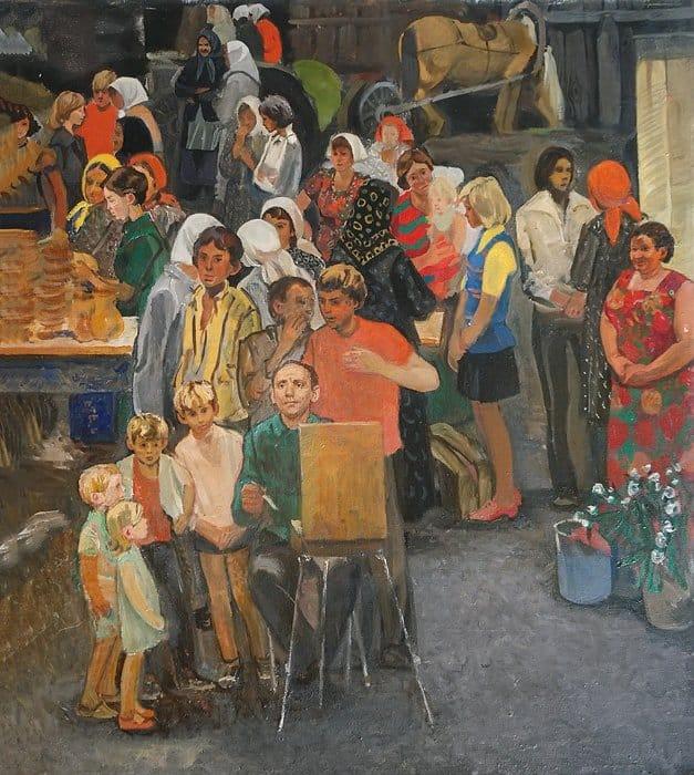 Колхозный рынок. 1980–1988. Из собрания Белгородского государственного художественного музея