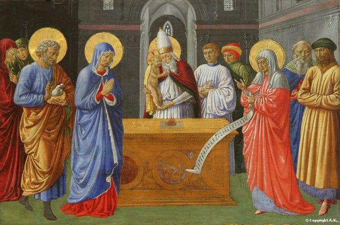 Джованни ди Паоло. Принесение во храм. 1440