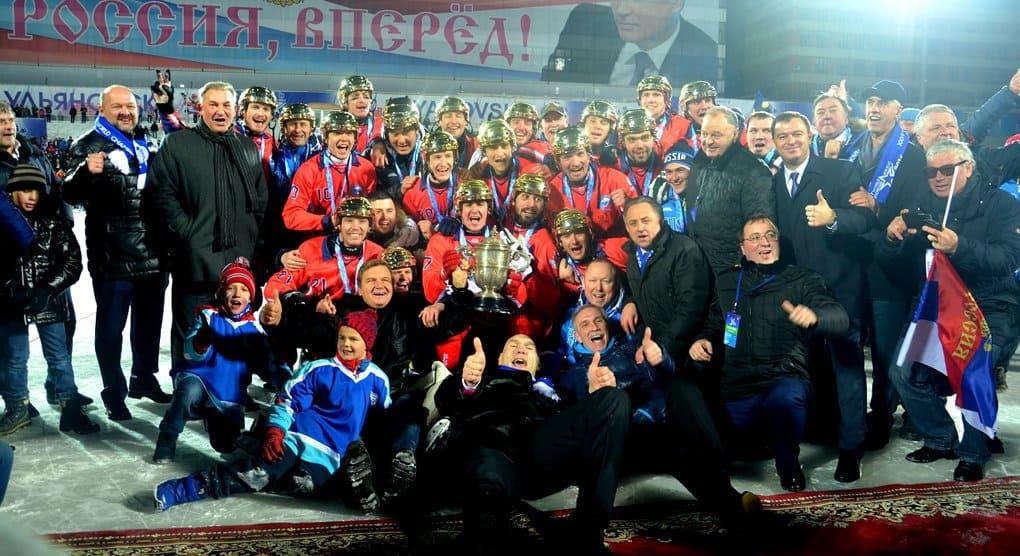 Патриарх поздравил российских хоккеистов с мячом, в 10-ый раз ставших чемпионами мира