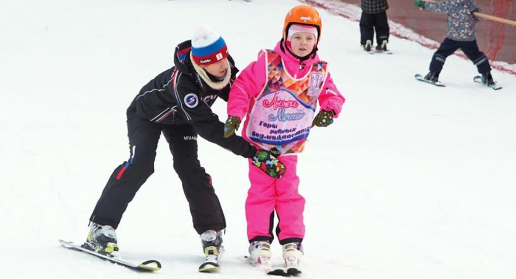 Дети-инвалиды впервые посоревновались в «Стартах мечты» на горных лыжах