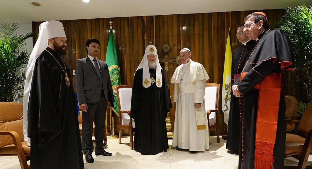 Патриарх Кирилл и Папа Франциск призвали предотвратить вытеснение христиан с Ближнего Востока