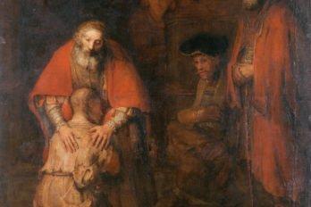 Рембрандт. Возвращение Блудного сына. Около 1668