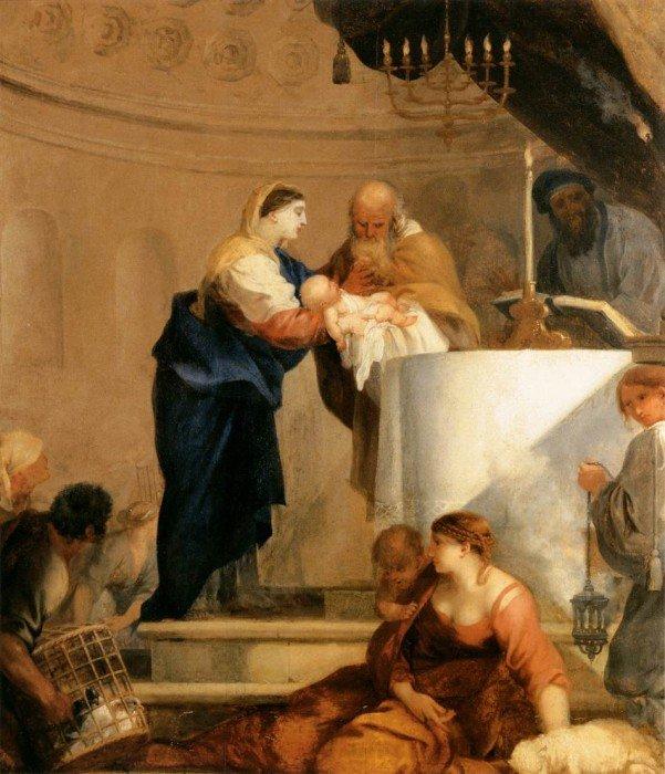 Себастьян Бурдон (1616 Монпелье - 1671 Париж) - Принесение во храм