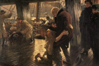 Современный блудный сын. Возвращение. Джеймс Тиссо. 1882