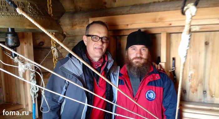Актер Том Хэнкс посетил православный храм в Антарктиде