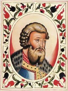 Князь Всеволод Юрьевич. Портрет из Царского титулярника (1672)