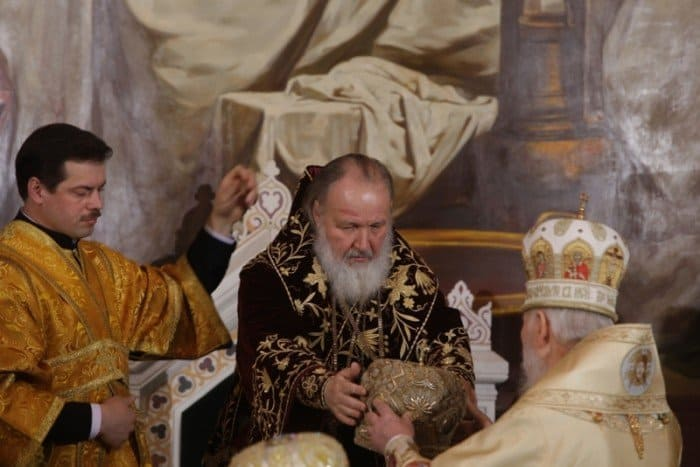 Интронизация Патриарха Московского и всея Руси Кирилла. Фото http://www.patriarchia.ru