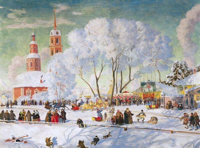 "Картина Кустодиева ""Масленица"""