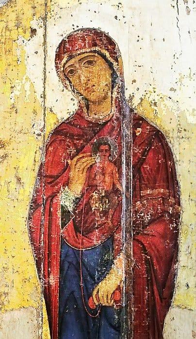 Богородица. Деталь иконы «Устюжское Благовещение». XII в.