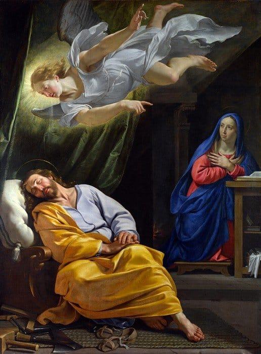 Филипп де Шампень - Сон святого Иосифа