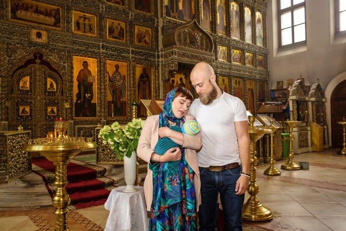 После крещения сына Вани. Фото Ольги Туровцевой