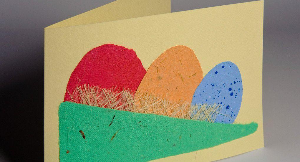 Поделки к пасхе из бумаги и картона
