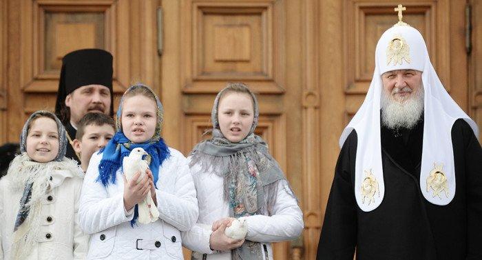 На Благовещение патриарх Кирилл совершит Литургию в соборе Кремля