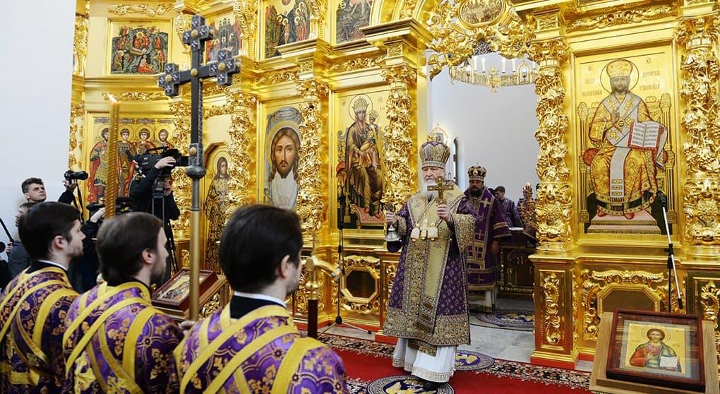 Патриарх Кирилл освятил храм Иверской иконы при Академии ФСБ