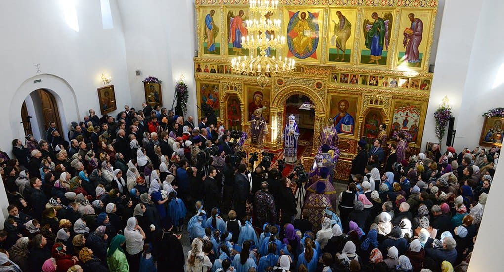 В Орехово-Борисове Южном патриарх Кирилл освятил новый храм-подворье