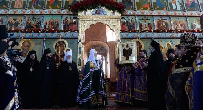 Старинную икону святого Александра Свирского вернули в его родной монастырь