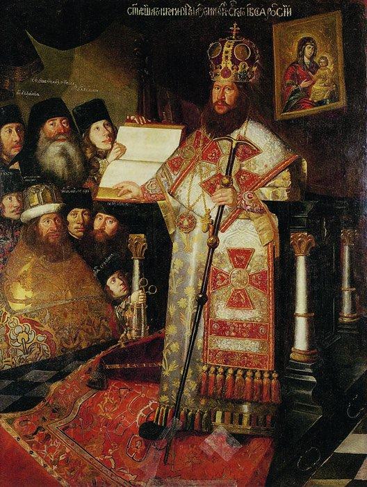Портрет патриарха Никона склиром. 1660-1665 гг.