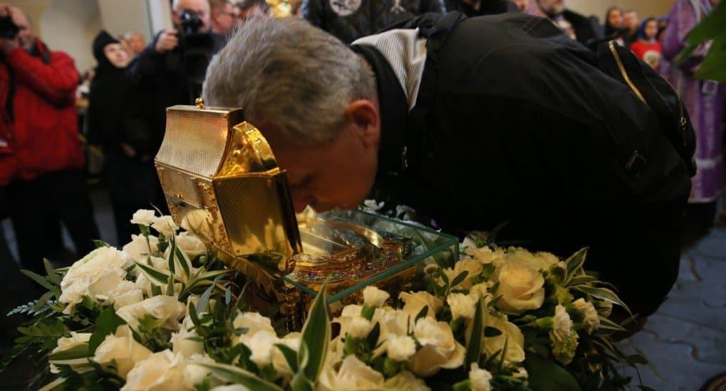 Мощи святителя Луки Крымского на два дня доставили В Донской монастырь