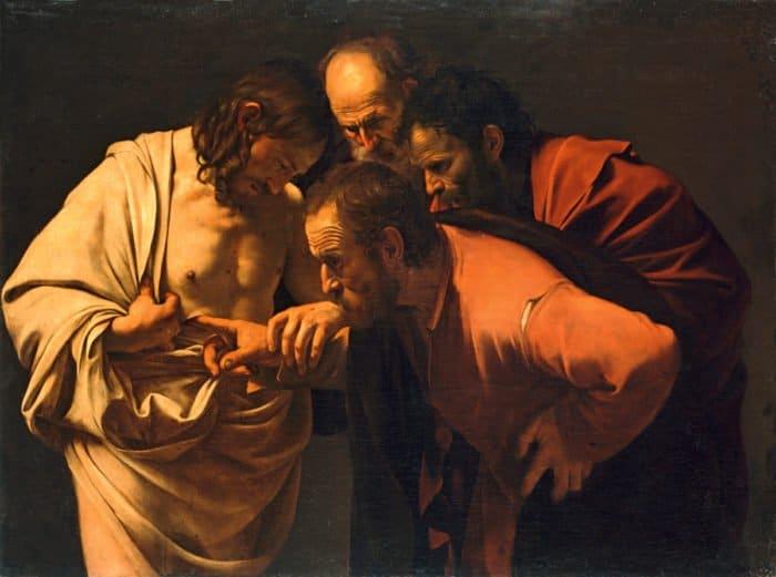 Неверие апостола Фомы. Караваджо. 1600-1602 гг.