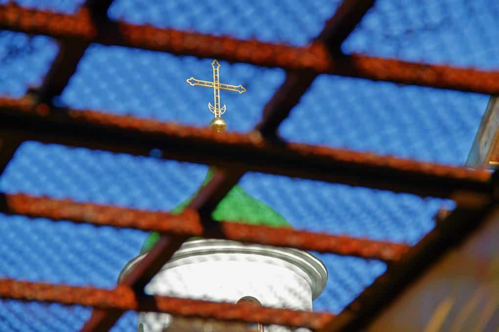 Купол храма в честь иконы Божией Матери «Нечаянная Радость» в ИК-11