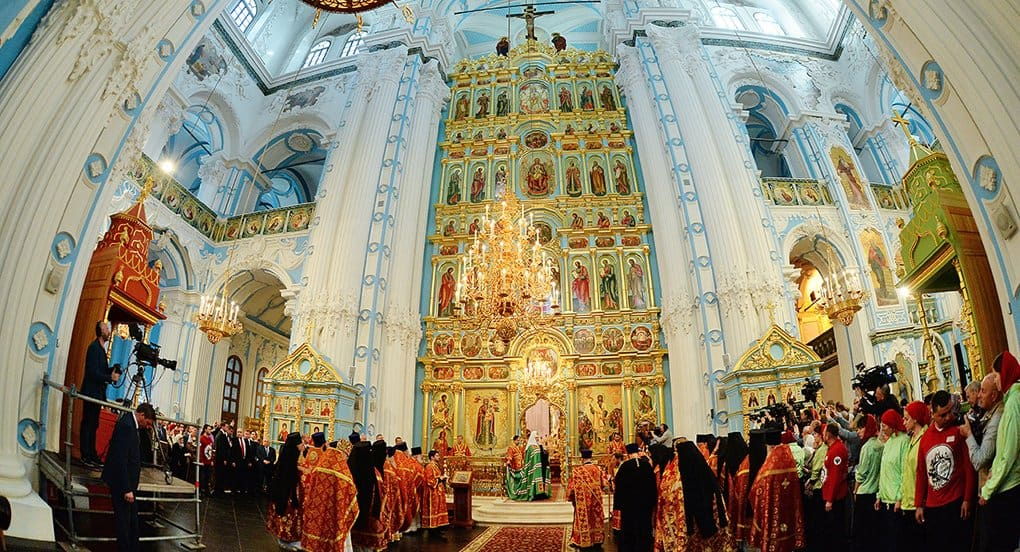 Патриарх Кирилл освятил восстановленный Воскресенский собор в Новом Иерусалиме