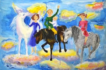 Рисунки Ксении. Необыкновенное чудо