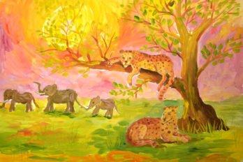 Рисунки Ксении. Короли прерий