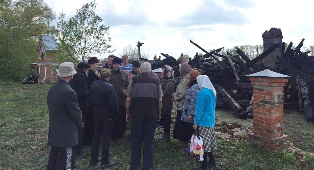 Сгоревшую в Ульяновской области церковь XIX века восстановят по чертежам