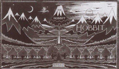 Суперобложка «Хоббита», выполненная по рисункам автора