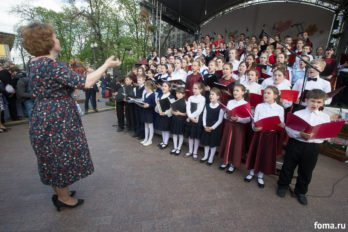 Сводный детский хор, Пушкинская пл., Москва, фото Юлии Маковейчук (22)
