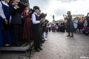 Сводный детский хор, Пушкинская пл., Москва, фото Юлии Маковейчук (25)