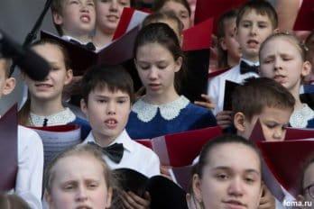 Сводный детский хор, Пушкинская пл., Москва, фото Юлии Маковейчук (66)