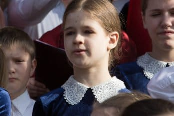 Сводный детский хор, Пушкинская пл., Москва, фото Юлии Маковейчук (9)