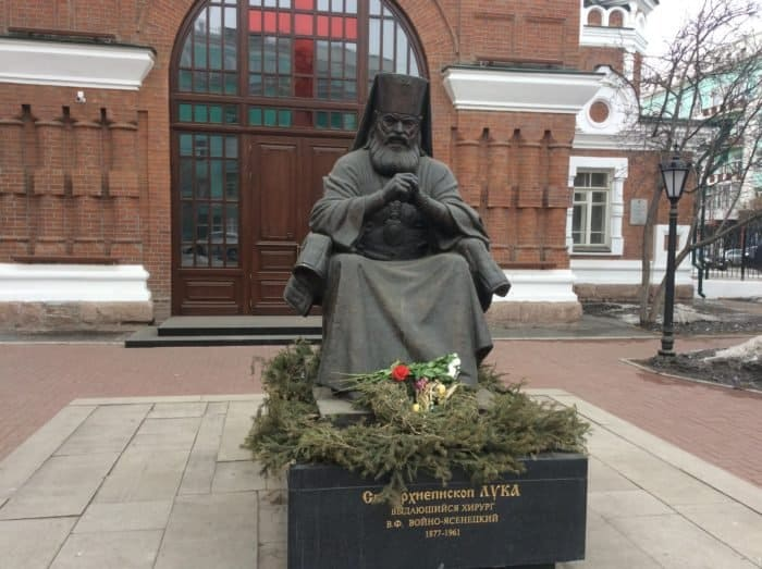 Памятник святителю Луке в Тамбове