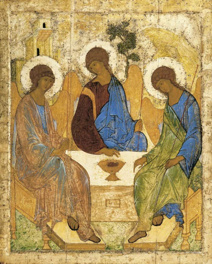 Фото иконы Троица Рублева