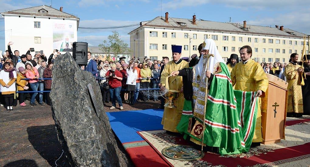 Патриарх Кирилл заложил храм-памятник погибшим шахтерам