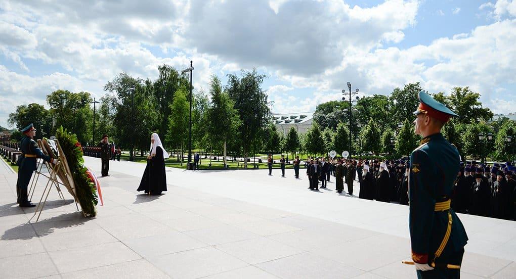 Патриарх Кирилл почтил память погибших в Великой Отечественной войне